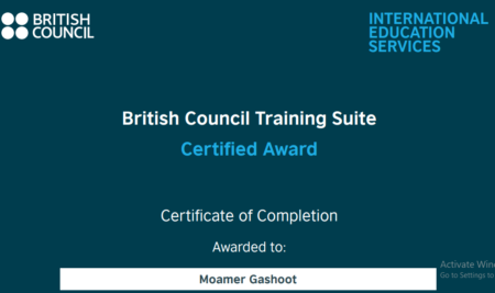 British Council Accreditation Certificate